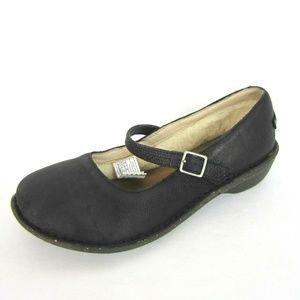 UGG Kandace Mary Jane Black 40 9 Near New Leather